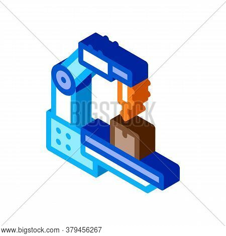 Manufacturing Technology Icon Vector. Isometric Manufacturing Technology Sign. Color Isolated Symbol