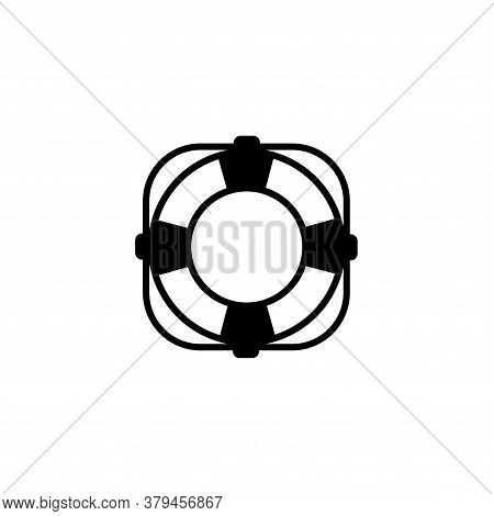 Illustration Vector Graphic Of Lifebuoy Icon Template