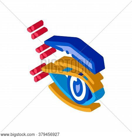 Eyelid Surgery Result Icon Vector. Isometric Eyelid Surgery Result Sign. Color Isolated Symbol Illus