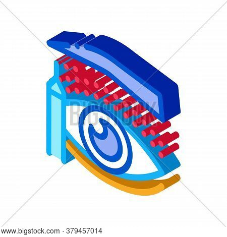 Eyelid Surgery Design Phase Icon Vector. Isometric Eyelid Surgery Design Phase Sign. Color Isolated
