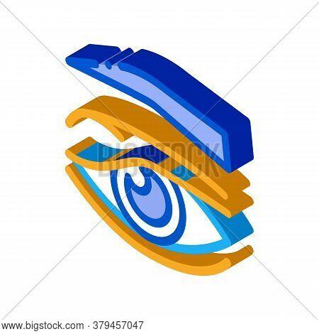 Eyelid Problem Icon Vector. Isometric Eyelid Problem Sign. Color Isolated Symbol Illustration