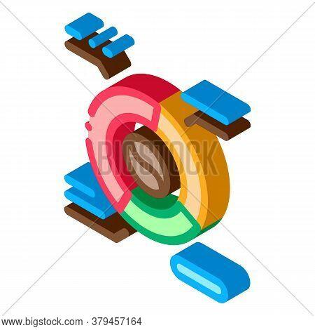 Coffee Characteristics Icon Vector. Isometric Coffee Characteristics Sign. Color Isolated Symbol Ill