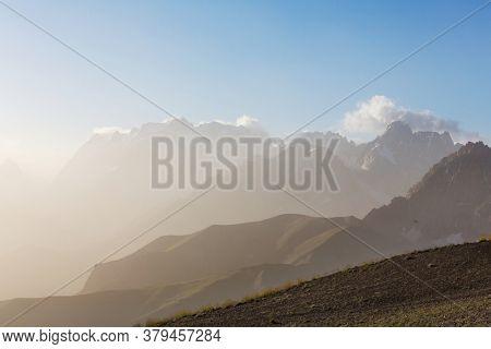 Beautiful landscape of Fanns Mountains, Tajikistan
