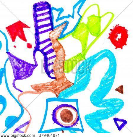 Texture Pattern Background. Freehand Decor. Stripe Pen Canvas. Background Hand Drawn. Modern Ornamen
