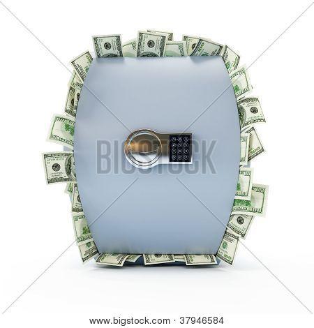 Safe Full Of Dollars