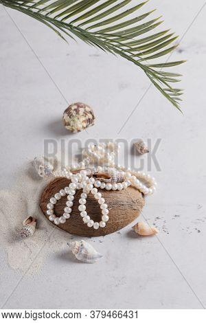 Beautiful Modern Style Pearls On The Beach