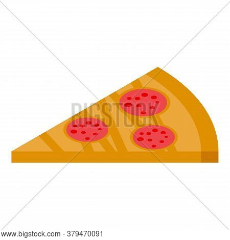 Eat Pizza Habit Icon. Isometric Of Eat Pizza Habit Vector Icon For Web Design Isolated On White Back