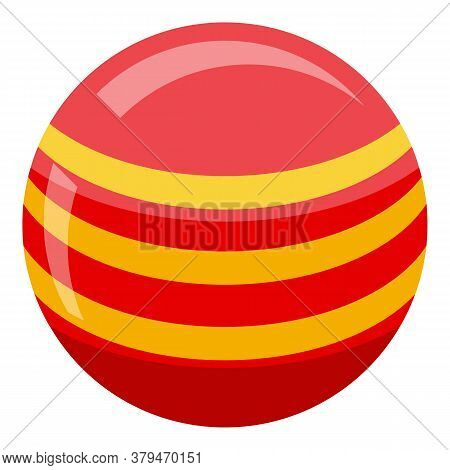 Fitness Ball Habit Icon. Isometric Of Fitness Ball Habit Vector Icon For Web Design Isolated On Whit