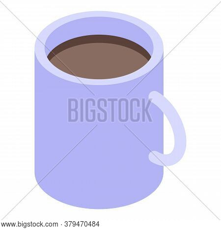 Desktop Coffee Mug Icon. Isometric Of Desktop Coffee Mug Vector Icon For Web Design Isolated On Whit
