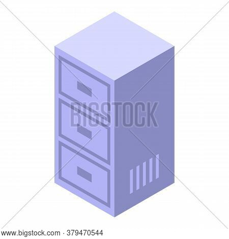 Drawer Space Organization Icon. Isometric Of Drawer Space Organization Vector Icon For Web Design Is