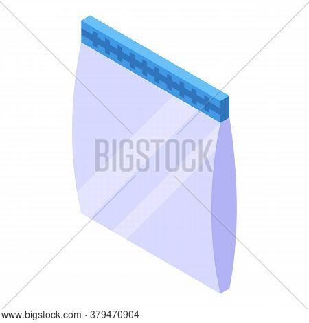 Fridge Food Bag Icon. Isometric Of Fridge Food Bag Vector Icon For Web Design Isolated On White Back