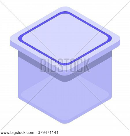 Food Container Icon. Isometric Of Food Container Vector Icon For Web Design Isolated On White Backgr
