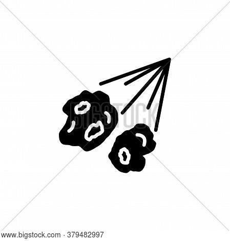 Meteorite, Comet, Meteor Icon Vector. Comet, Meteorite