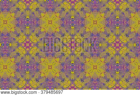 Portuguese Decorative Tiles. Chedder Flower Patchwork Ornate. Portuguese Decorative Tiles Background