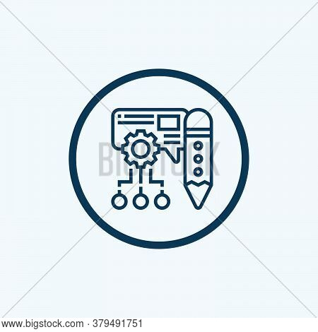 Content Icon Isolated On White Background From User Experience Collection. Content Icon Trendy And M