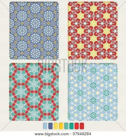 Snowflake's Gepmetric Seamless Pattern