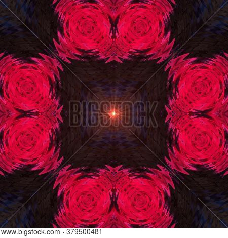 Abstract Classic Pink Flower Supernova Pattern. Background Image. Abstract Decorative Texture. Moder
