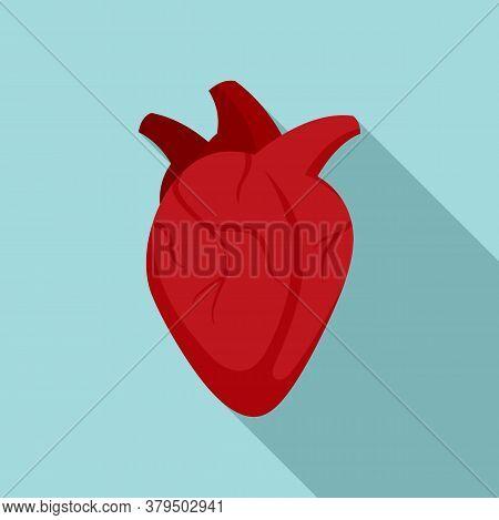 Medical Human Heart Icon. Flat Illustration Of Medical Human Heart Vector Icon For Web Design