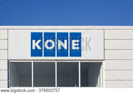 Aarhus, Denmark - October 14, 2018: Kone Founded In 1910 In Finland, Is An International Engineering