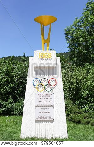 Villars De Lans, France - June 17, 2019: The Monument Of The 1968 Grenoble Winter Olympic Games In V