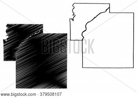 Carroll County, Indiana (u.s. County, United States Of America, Usa, U.s., Us) Map Vector Illustrati