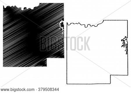 Dubois County, Indiana (u.s. County, United States Of America, Usa, U.s., Us) Map Vector Illustratio