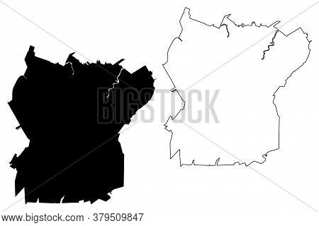 Ananindeua City (federative Republic Of Brazil, Para State) Map Vector Illustration, Scribble Sketch