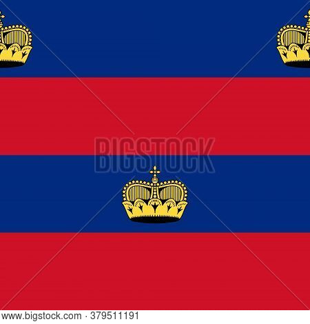 Seamless Pattern On The Theme Of Liechtenstein Independence Day On August 19. Decorated With A Liech