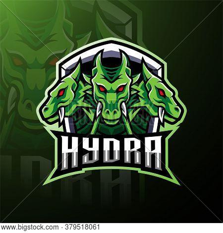 Hydra Esport Mascot Logo Design With Text