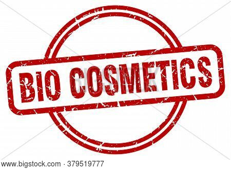 Bio Cosmetics Grunge Stamp. Bio Cosmetics Round Vintage Stamp
