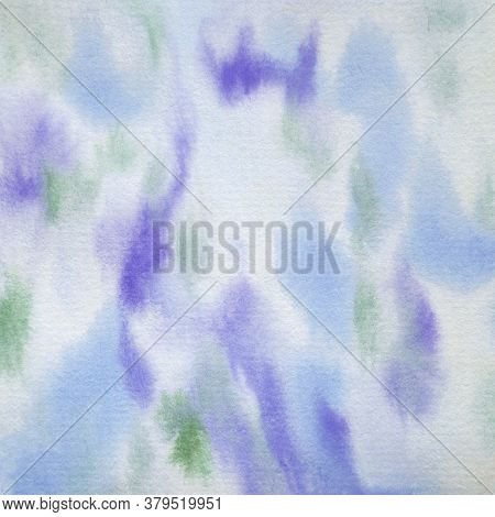 Watercolor Background Blue Purple Green Hand Painted Cool Abstract Design Element In 12x12 Graphic I