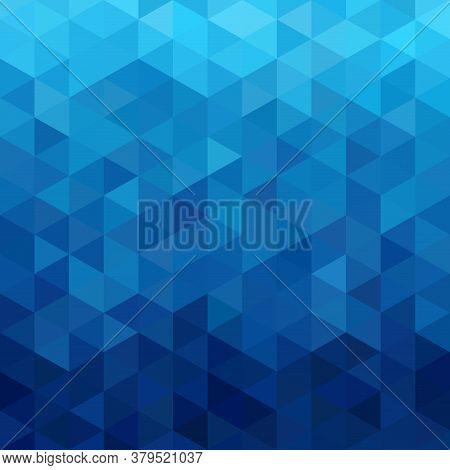 Triangular Abstract Background Blue Ocean Vector Illustration