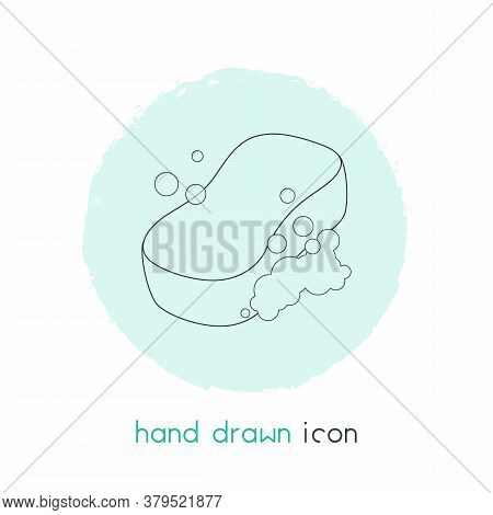 Sponge Icon Line Element. Vector Illustration Of Sponge Icon Line Isolated On Clean Background For Y