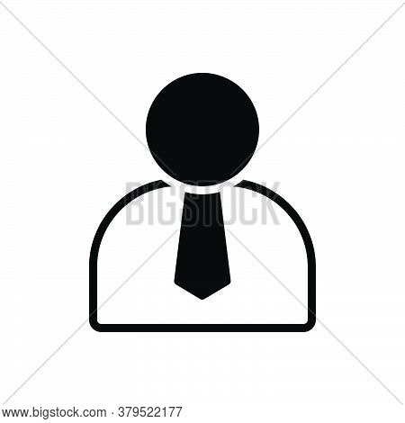Black Solid Icon For Employee Practician Roustabout Shopman Worker Agent Staff Member Operator
