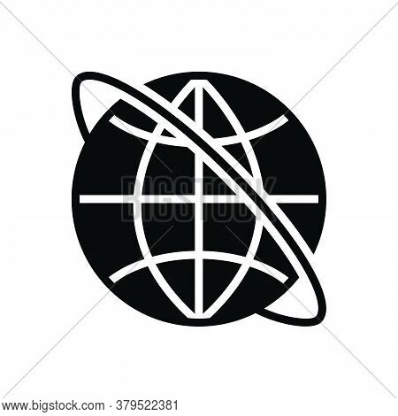Black Solid Icon For Internet Cyberspace Online Access Website Network Globe Www