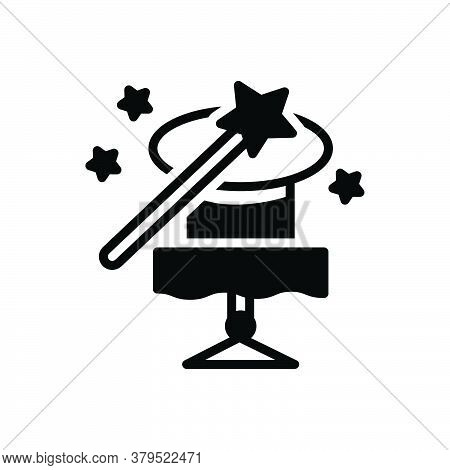 Black Solid Icon For Magic-trick Magic Trick Fascination Spell Charm Enchantment Magician Wizards St