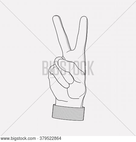 Peace Sign Icon Line Element. Vector Illustration Of Peace Sign Icon Line Isolated On Clean Backgrou