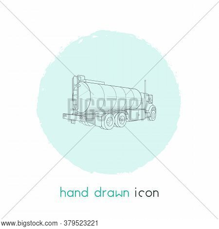 Tank Truck Icon Line Element. Vector Illustration Of Tank Truck Icon Line Isolated On Clean Backgrou