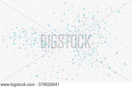 Holographic Polka Vector Transparent Background. Unicorn Carnaval Splash Wallpaper. Abstract Backdro