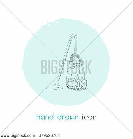 Vacuum Cleaner Icon Line Element. Illustration Of Vacuum Cleaner Icon Line Isolated On Clean Backgro