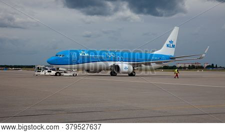 Kyiv, Ukraine - July 14, 2020: Passanger Plane Ph-bxz Klm Royal Dutch Airlines Boeing 737-8k2 Wl . B