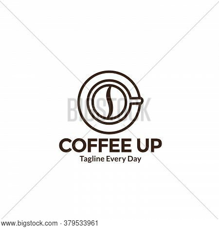 Warm Coffee Cup Up View Logo Design