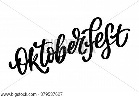 Oktoberfest Celebration Background. Happy Oktoberfest In German Lettering Typography. Beer Festival