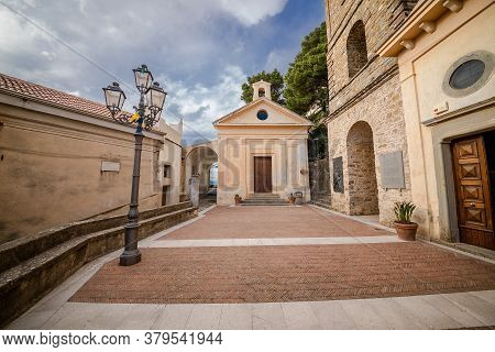 Castellabate, Italy, June 2020: Pontifical Basilica Of Santa Maria De Gulia, In Castellabate, In A C