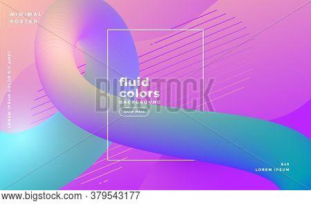 Modern Fluid Color Loop Background Vector Design Illustration