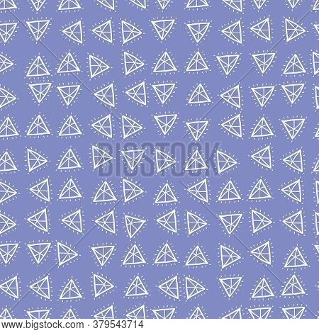 Doodle Gemstones Seamless Vector Pattern. Simple Surface Print Design For Fabrics, Stationery, Scrap