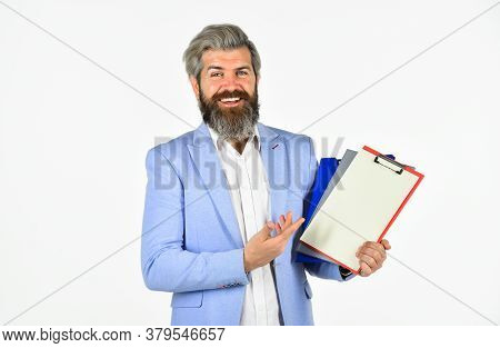 Making Notes. Professional Businessman Waiting For Partner. Business Man Wearing Smart Casual Clothe