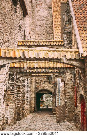 Tallinn, Estonia. St. Catherines Passage From St. Catherines Dominican Monastery. Historic Centre Ol