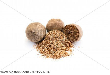 Nutmeg Isolated On White Background Cut Out