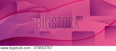 Color Flow Wave. Pink Futuristic Movement. Abstract Fluid Shapes. Business Pattern.  Color Flow Wave